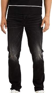American Eagle 男式 4892167 Ne(X) t Level Original 直筒牛仔裤,水洗黑