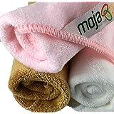 毛绒 MojaFiber 超细纤维面部:超* 3 包 30.48 厘米 x 30.48 厘米 高 去角质和清洁毛孔 ¬ 轻松去除化妆和死皮* ¬ 仅水或轻皂