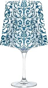 MODGY 磨砂*玻璃罩 - 包括带电池的浮动蜡烛 Blue, Frosted ChaCha Blue SH5005