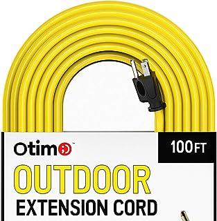 Otimo 14/3 户外重型延长线 - 3 爪延长线 黄色 100 Feet, 2 Pack 35314