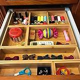 竹子抽屉收纳盒,适用于工艺、缝制、办公室、浴室、厨房