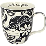 Karma, by Stephen Joseph Boho Black and White Elephant Mug, Multicolor
