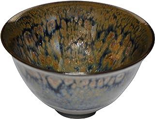 京烧 清水烧 陶あん窑 *杯 (含木盒) 绣斑天纹 托瓦849-07