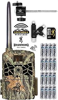 Browning Defender 4G LTE 蜂窝跟踪摄像机带电池、SD 卡、读卡器和支架 AT&T