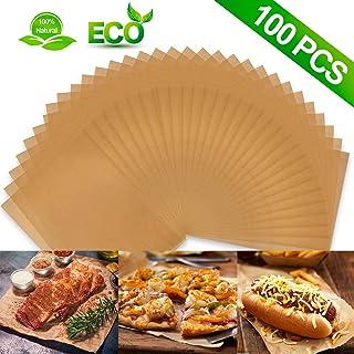 30.48 厘米 x 40.64 厘米(100 件)羊皮纸烘焙板,不粘预裁烘焙羊皮纸适用于烘焙烧烤空气炸锅蒸煮面包蛋糕饼干等(未漂白)