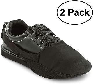 保龄球鞋滑块 2 件装 / 1 双可调节鞋底滑盖   均码适合大多数男士和女士   弹性带打造尺寸适应   完美的保龄球配件