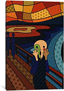 "iCanvasART The Scream 3 (After Edvard Munch) Canvas Print by Darklord, 18 by 12""/0.5"" Deep"