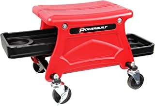Powerbuilt Roller Seat Mechanics Stool w/ 2 个工具托盘 300 磅(约 680 千克)容量 - 240283