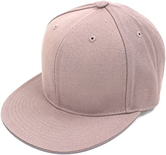 DECKY Men's Fitted Baseball Hat Cap Flat Bill Blank