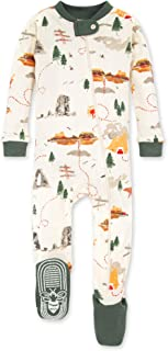 Burt's Bees 婴儿男孩中性睡衣,前拉链防滑连脚睡衣,*棉,观光,24 个月