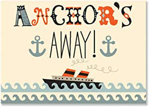 "Amy Blay 的 Oopsy Daisy Fine Art 儿童逃离船帆布墙体艺术 14 x 10"" NB21813"