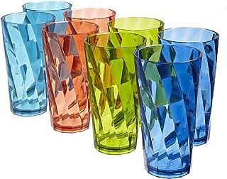 Optix Break-resistant 20-ounce Plastic Tumblers | set of 8 in 4 assorted colors