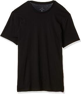 A|X Armani Exchange 阿玛尼男式纯色基本款比马圆领