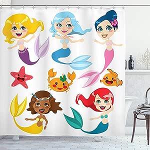 Ambesonne 装饰系列涤纶面料浴室浴帘