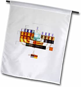 smudgeart hanukkah–光明设计–menorah–马赛克–旗帜 12 x 18 inch Garden Flag