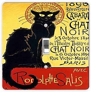 Rikki Knight La Chat Noir-Single Toggle Light Switch Plate