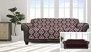 Quick Fit Aime Floral 双面防水椅套 葡萄酒色 Sofa Cover AICW3=6/13897*P