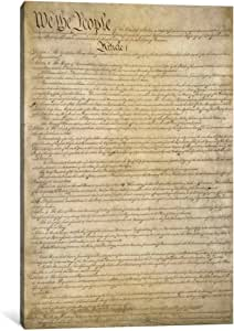 iCanvasART 3676-1PC6-18x12 The Constitution Document Canvas Print by Unknown Artist, 1.5 x 12 x 18-Inch