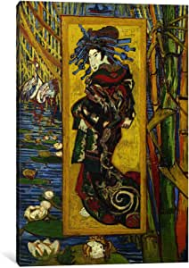 iCanvasART 14329-1PC3-40x26 Courtesan 'After Eisen' Canvas Print by Vincent van Gogh, 0.75 by 26 by 40-Inch