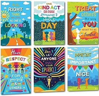 Sproutbrite 教室 Kindness 海报 用于装饰 - 教育与激励生长 Mindset & Empathy 适合教师、学生们 - 6 个海报