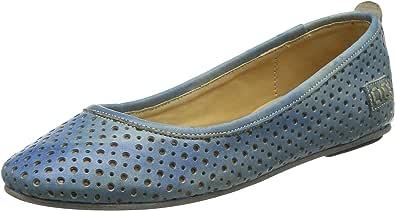 bed stu 女士 Watusi 皮革平底鞋 Blue Driftwood Gamuza 7 M US