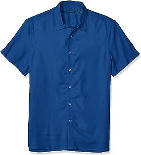 Perry Ellis 男式纯色莫代尔衬衫