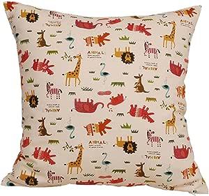 tangdepot 100% 棉质自然主题抱枕套,枕套,10种尺寸可选