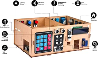 OSOYOO Arduino MEGA2560 IoT 學習智能家居套件|用于學習物聯網,建筑動力學,電氣工程,編碼方法的STEM套件|兒童教育編碼