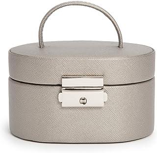 WOLF Heritage 迷你椭圆形盒,锡色十字纹
