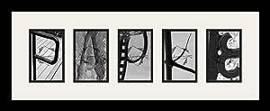 Art to Frames LetterArt-papke-201637-61/89-FRBW26079 字母艺术/字母摄影框 - PAPKE - 带 5-4x6 开口。 黑色缎面框架