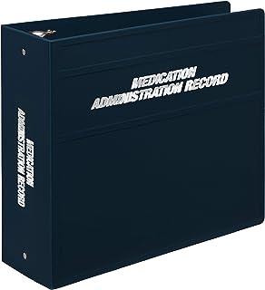 Carstens 重型三圈活页夹,适用于*管理记录 (MAR) – 侧开口 4英寸 *蓝