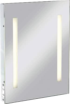 Knightsbridge IP44 矩形镜,带双电压剃须刀插座