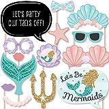 Big Dot of Happiness Let's Be Mermaids - 宝宝派对或生日派对照片道具套件 - 20 件
