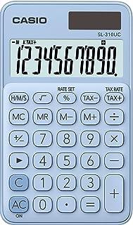 Casio 计算器 , 10位数字 淡蓝色