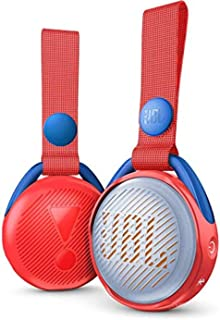 JBL JR Pop 迷你盒子 粉色 – 罂粟花,防水蓝牙扬声器,带内置灯光图案JBLJRPOPRED