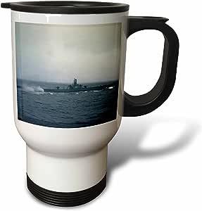 3dRose Pacific Ocean US Submarine During WW II-XX01 CSL0001-Charles Sleicher Travel Mug, 14-Ounce
