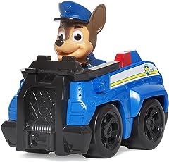 PAW PATROL 汪汪队立大功 收藏版救援赛车系列玩具 小号 警车+阿奇 (供应商直送)