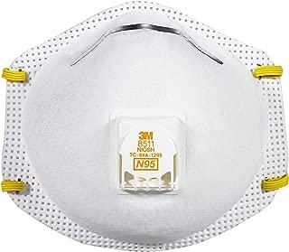 3M 8511 N95 口罩,冷却气流阀(2件装)