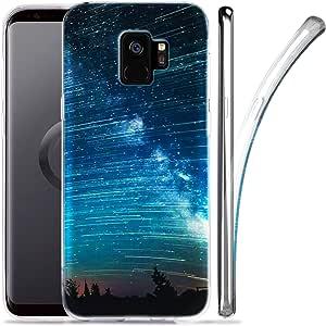 GALAXY S9手机壳 zuslab 星云图案设计修身弹性防震 TPU 软橡胶硅胶光滑皮肤适用于三星 Galaxy S92018 Nebula A3
