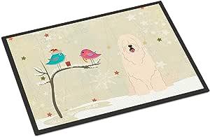 Caroline's Treasures BB2496JMAT 圣诞节礼物 南俄罗斯羊犬室内或室外垫,60.96 x 91.44 厘米,多色
