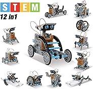 maba 12 合 1 儿童机器人搭建套件,STEM 教育创作 190 件套装,太阳能电动引擎和齿轮,科学实验套装,适合 8 岁以上儿童
