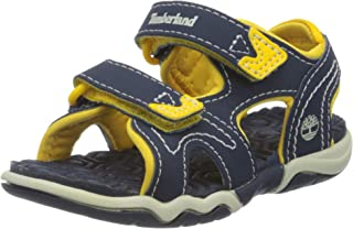 Timberland Adventure Seeker Two-Strap Sandal (Toddler/Little Kid)Navy/Yellow4 M US Toddler
