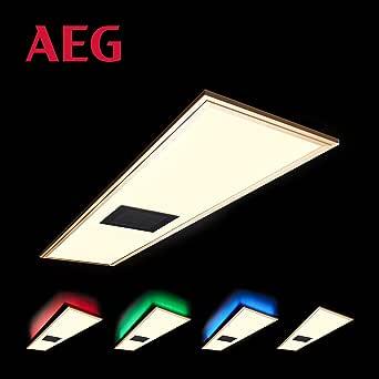 AEG Niven 天花板面板120x30cm 带金属扬声器,塑料,60W,珍珠镍