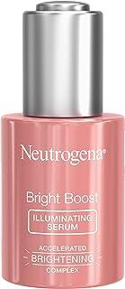 Neutrogena 露得清 Bright Boost 提亮面部精华液 含新葡糖胺和姜黄提取物,使肤色均匀,焕新,减少黑斑和色素沉着,1.0液体盎司/30毫升