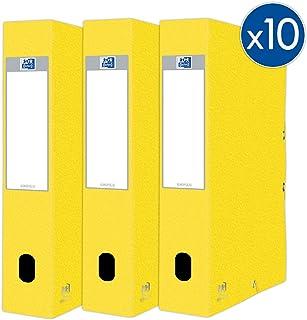 Oxford Eurofolio+ 纸板,带松紧带,24 x 32厘米,背面 60毫米,黄色,10件