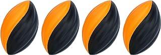 LMC Products 迷你泡沫足球 - 泡沫球 - 儿童户外玩具 - 易于抓握 - 四个 5 英寸儿童玩具球 - *好的迷你足球 橙色