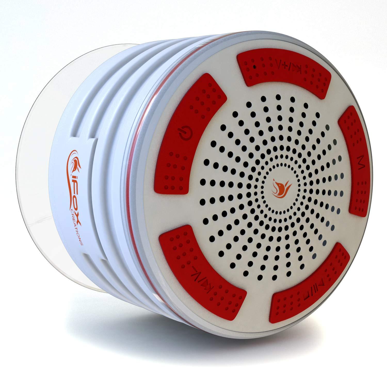 iFox iF013のBluetoothシャワースピーカー - 防水シャワー*すべてのBluetooth Dへの無線ワイヤレスそれペアevices  - 携帯電話、タブレット、パソコン、ゲームiF013