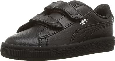 PUMA 彪马儿童篮球经典 LFS 魔术贴运动鞋 黑色/黑色 5 Toddler