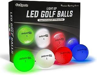 GoSports 发光式 LED 高尔夫球 12 只装 | 冲击激活,10 分钟定时器