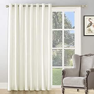 KEQIAOSUOCAI 系带隔热杆遮光窗帘,适用于厨房、客厅、浴室。 米色 Grommet Curtain|100x84 SC-DK-12-BEIGE-100X84